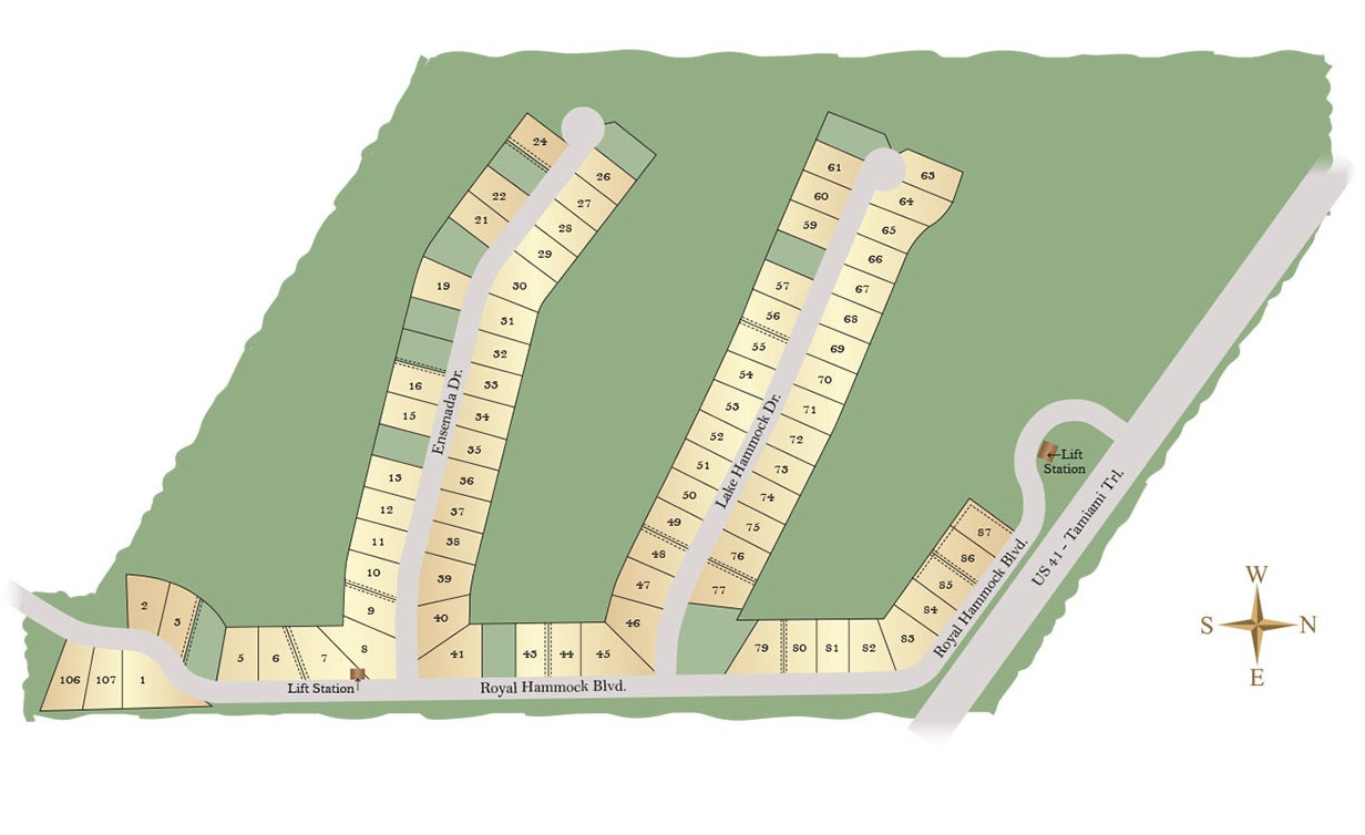 Royal Palm Golf Estates Site Map