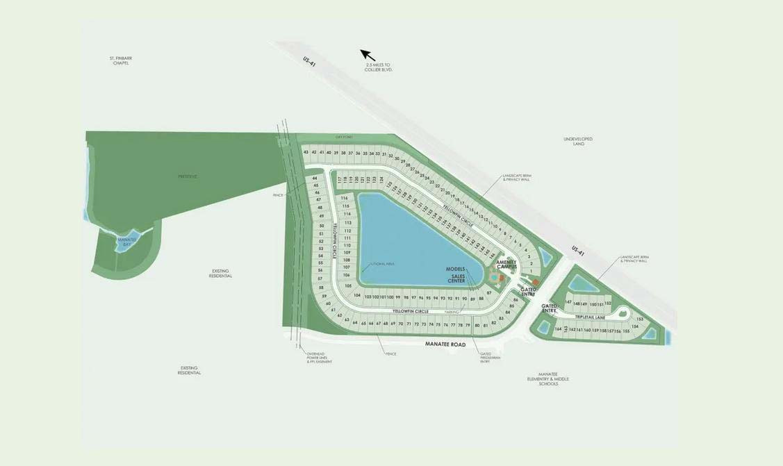 Manatee Cove Site Map