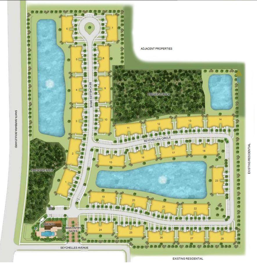 Site plan for Seychelles - Naples, FL
